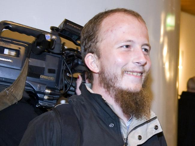 "Guilty ... Pirate Bay co-founder Gottfrid Svartholm Warg, who used the alias ""Anakata"" on the internet, was arrested in Cambodia in 2012 and sent back to Sweden. Picture: AFP"