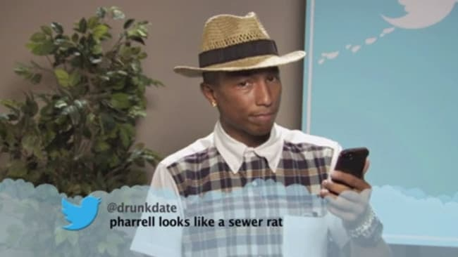 Pharrell ... not so happy.