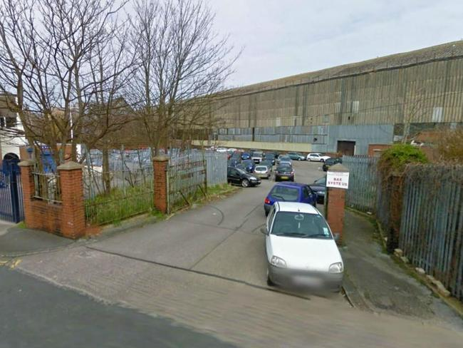 Emma was targeted after parking by BAE Systems plant in Barrow, Cumbria. Picture: The Sun
