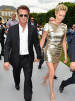 Actors Sean Penn and Charlize Theron attend the Christian Dior show as part of Paris Fashion Week - Haute Couture Fall/Winter 2014 in Paris, France. Picture: Getty