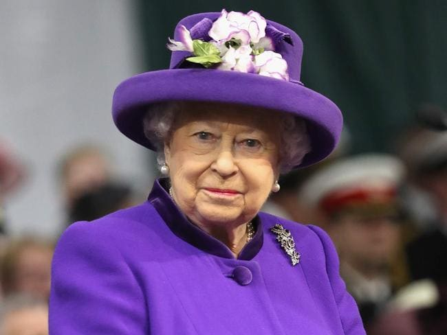 Queen Elizabeth attends the Commissioning Ceremony for the Royal Navy aircraft carrier HMS Queen Elizabeth in December last year. Photo: AFP/Chris Jackson
