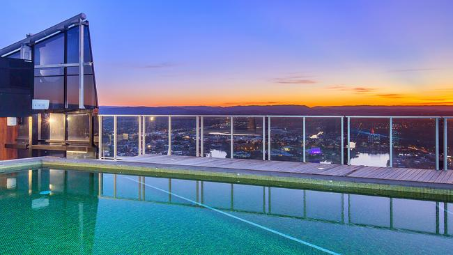 Surfers Paradise Circle on Cavill south tower penthouse pool area.