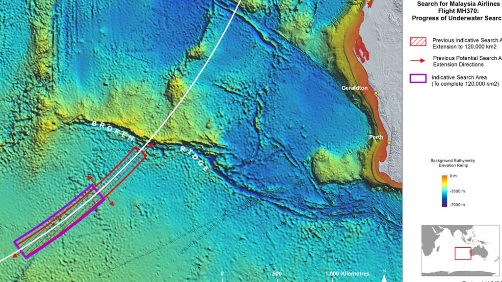 Almost done. The MH370 search has covered over 110,000 square kilometres of seabed so far. Picture: ATSB