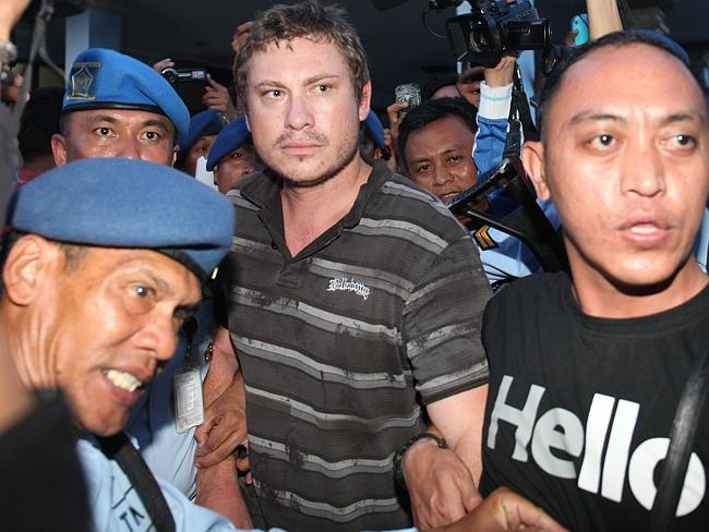 Attempted to enter cockpit ... Matt Lockley, 28 was arrested and is taken to police at the airport in Dempasar, Bali.