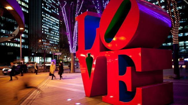 The 'Love' sculpture in Tokyo by Robert Indiana. It's clearly not having the desired effect.