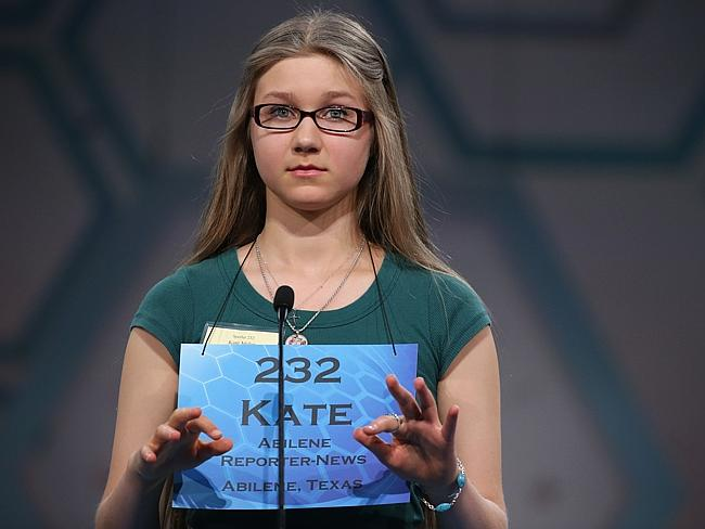 Kate Miller of Abilene, Texas, concentrates during round three of the 2014 Scripps Nation