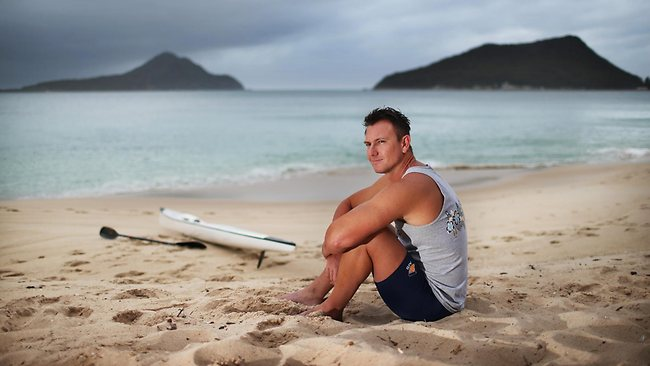 Former Olympic kayaker and convicted drug manufacturer Nathan Baggaley is back doing the sport he loves as he starts a new life after spending four years in prison. Photo: Phil Hillyard
