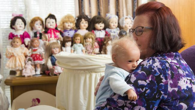 Betty ordered a Reborn doll to look like her son when he was just a baby. Now she can hold Greg whenever she wants. Picture: Caters