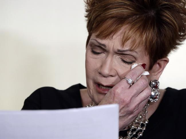 Beverly Young Nelson, the latest accuser of Alabama Republican Roy Moore, reads her statement at a press conference, in New York. Picture: AP/Richard Drew