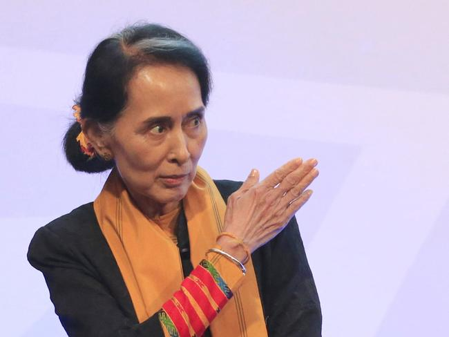 Myanmar leader Aung San Suu Kyi has faced international critisicism for her response to the Rohingya crisis. Picture: Supplied.