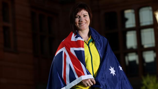 Glasgow Games flag-bearer Anna Meares. Picture: Adam Head