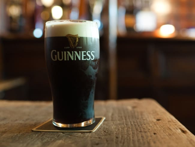 The Irish beer needs time to settle in the glass.