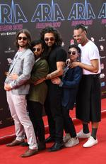 Gang of Youths arrive on the red carpet for the 31st Annual ARIA Awards 2017 at The Star on November 28, 2017 in Sydney, Australia. Picture: AAP