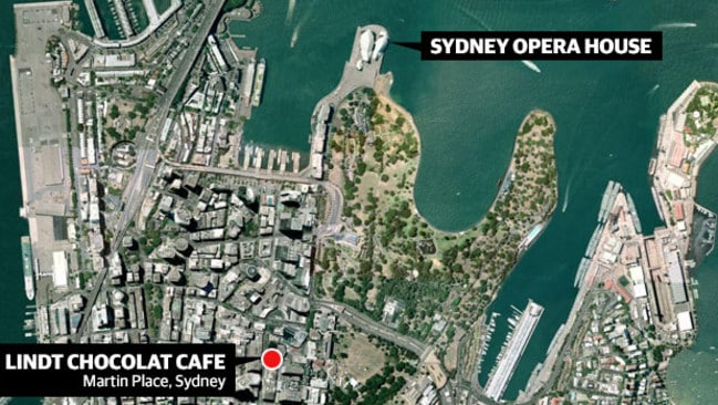 Heart of the city ... The Lindt Cafe is in the centre of Sydney's busy financial district.