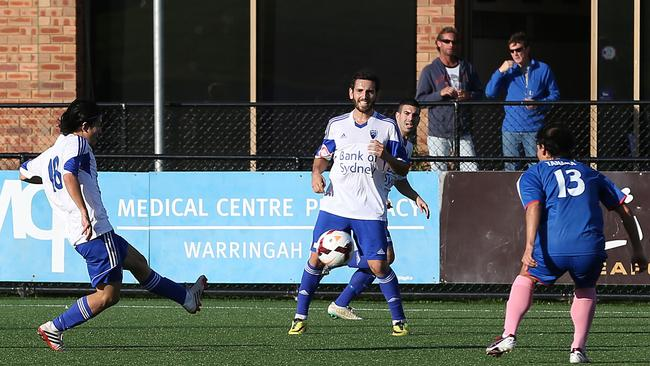 Manly United's clash with Sydney Olympic in May.