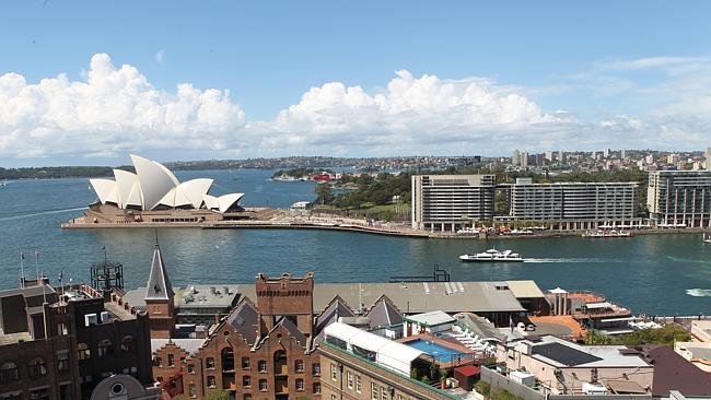 View 1: A stunning look at the Opera House from Argyle St, The Rocks.