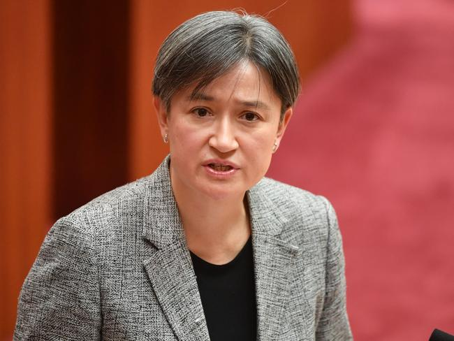 Shadow Minister for Foreign Affairs and Leader of the Opposition in the Senate Penny Wong accused the government of a 'Kiwis under the beds scare'. Picture: Mick Tsikas/AAP
