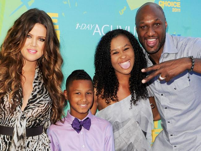 Family ... Khloe Kardashian, Lamar Jr., Destiny and Lamar Odom in 2011. Picture: Getty
