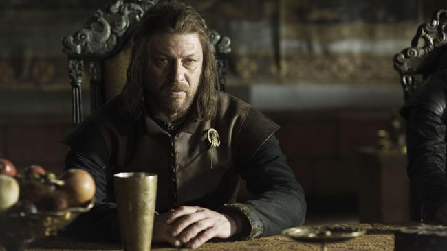 Sean Bean as Ned Stark. Only the most awesome character ever.