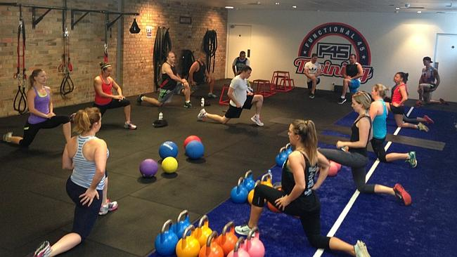 Inside an F45 training session.