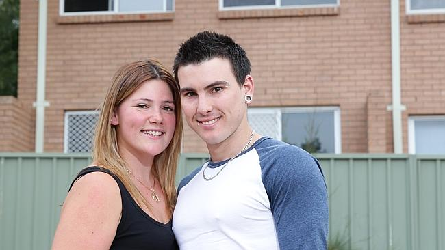 Sarah Hollinshead and her partner Mitchell Smith purchased a townhouse in St Mary's last week as an investment.