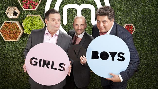 The MasterChef trio - Gary Mehigan, George Calombaris and Matt Preston at the season 5 launch in Melbourne.
