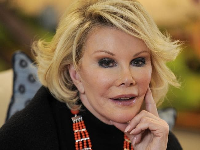 "Joan Rivers insists her remarks were taken ""out of context"". Picture: AP Photo"