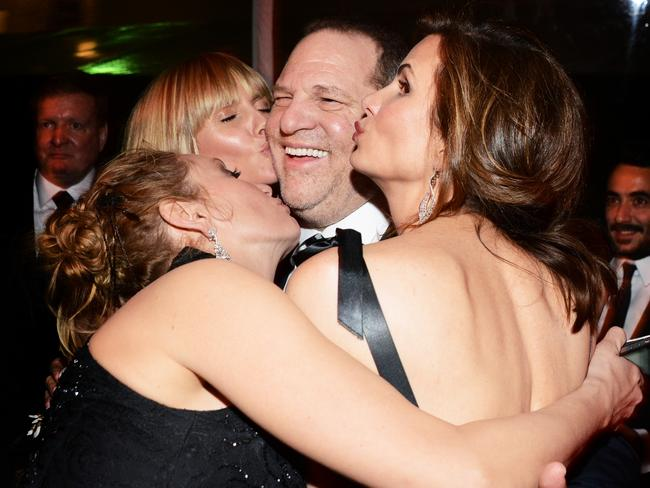 At the same party in 2014 with Heidi Klum. Picture: Araya Diaz/Getty Images for The Weinstein Company.