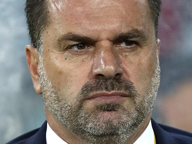 SYDNEY, AUSTRALIA - OCTOBER 10:  Australia Coach Ange Postecoglou looks on during the 2018 FIFA World Cup Asian Playoff match between the Australian Socceroos and Syria at ANZ Stadium on October 10, 2017 in Sydney, Australia.  (Photo by Ryan Pierse/Getty Images)