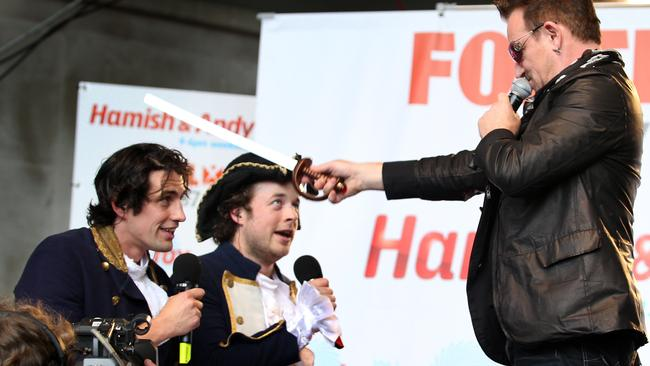 Hamish and Andy got knighted by Bono.