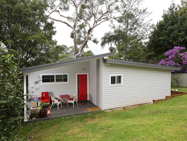 The exterior of Ms Slade's granny flat. Picture: Bob Barker