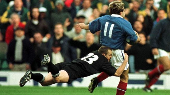 Christophe Dominici and France stunned New Zealand at the 1999 World Cup.