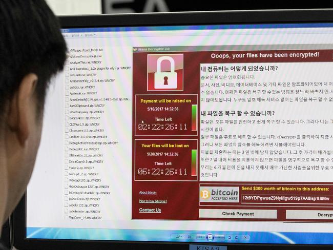 Another worldwide cyber attack is underway. Picture: AFP