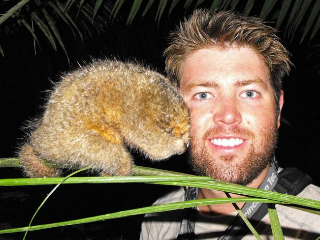 With an extremely rare pygmy anteater in Ecuador.
