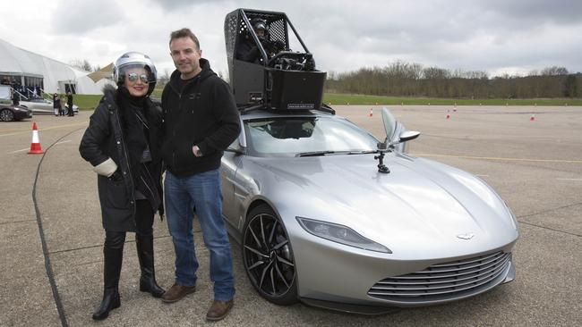 And to think they allowed me in this muti-million dollar car. Under instruction from stunt driver, Rob Hunt, of course.