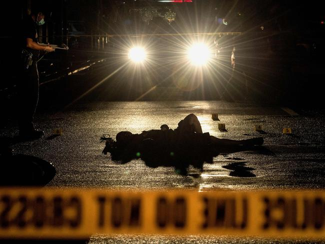 "Thousands of suspected drug dealers and users have been killed since Rodrigo ""The Punisher"" Duterte announced a nationwide crackdown on drugs. Picture: AFP/Noel Celis"