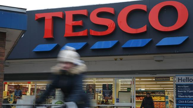 Tesco in the UK is trialling e-pricing. Picture: AFP/Daniel Leal-Olivas