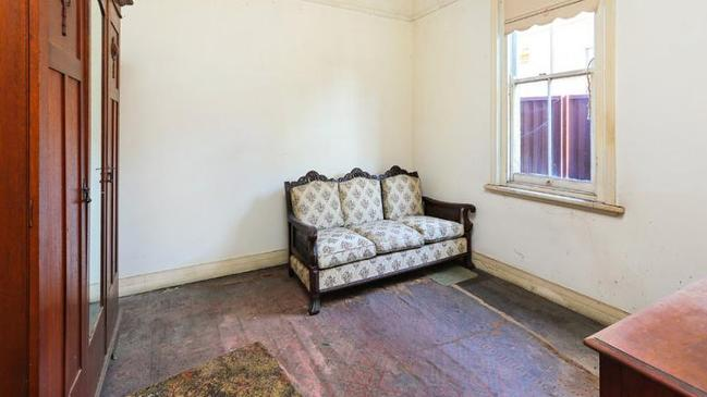 Some rooms were completely off-limits to potential buyers.