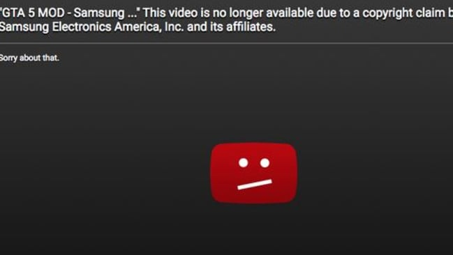 Due to a copyright claim from Samsung?