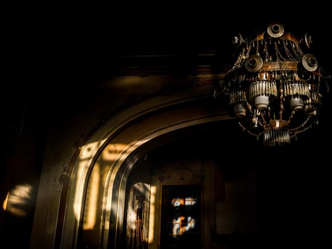 Creepy abandoned Romanian casino after dark. Picture: Jakub Kyncl