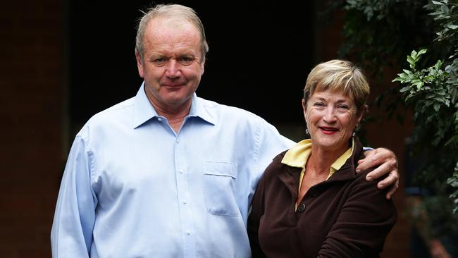 Guy Walter with wife Wendy at their Warwick Farm stables.