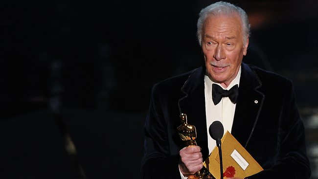 Christopher Plummer holds the trophy for Best Supporting Actor onstage at the 84th Annual Academy Awards. Picture: AFP