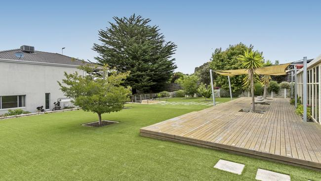 The four-bedroom home is on a spacious block of 2431sq m.