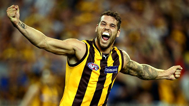 Lance Franklin has put contract talks with Hawthorn on hold until the end of the season. Picture: Wayne Ludbey