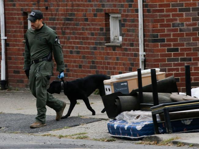 An FBI officer walks outside of suspect Sayfullah Saipov's apartment, on November 1, 2017, in Paterson, New Jersey. Picture: AFP.