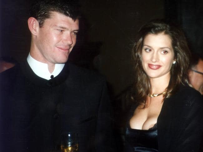 The former Kate Fischer, above with then fiance James Packer, understands why people enjoyed watching her fail. Picture: Robert Rosen