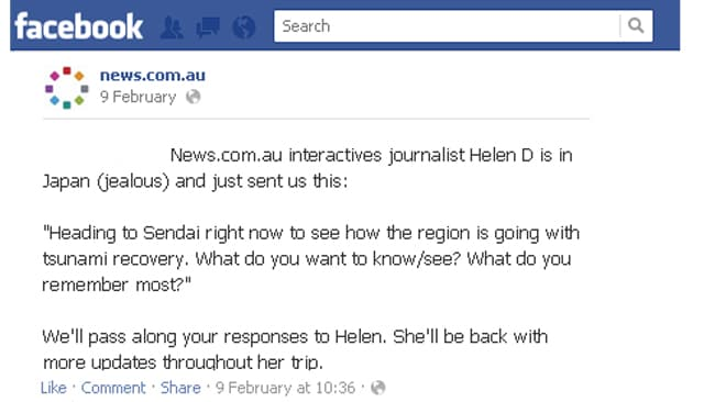 News.com.au asked the Facebook fans what they wanted to know about Japan's recovery.