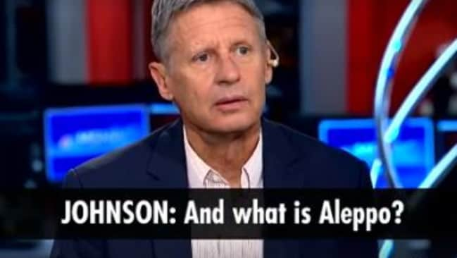 Gary Johnson: 'What is Aleppo?' video goes viral   Daily ...