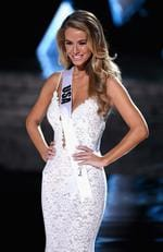 Miss USA 2015, Olivia Jordan, is named a top three finalist during the 2015 Miss Universe Pageant on December 20, 2015 in Las Vegas. Picture: Getty