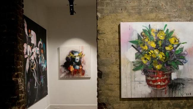 Anthony Lister's solo show 'Hurt People - Hurt People' at Lazarides Gallery, London 2014